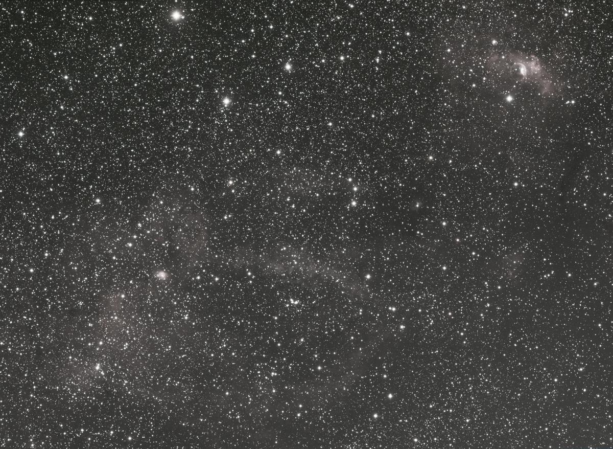 SH2-157 et Bubble Nebula (NGC 7635)