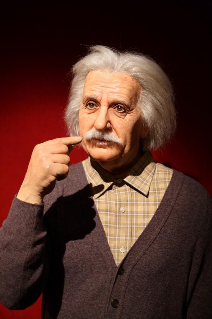 Albert Einstein au musée Grévin