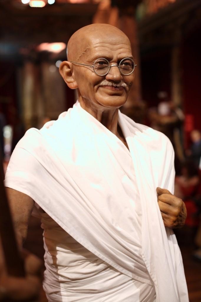 Mohandas Karamchand Gandhi dit Mahatma Gandhi au musée Grévin