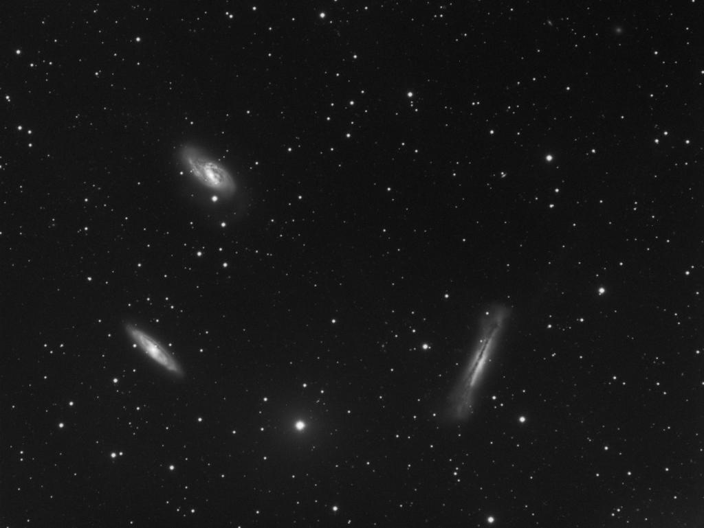 Le Trio du Lion - mars 2014 - Alban BERNARD FSQ 106 + extender Q 1,6 : focale résultante de 800mm (f/d 7.5)