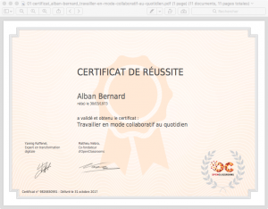 01 certificat_alban-bernard_travailler-en-mode-collaboratif-au-quotidien 100%