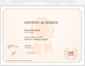 08 certificat_alban-bernard_decouvrir-la-posture-d-agilite 88%