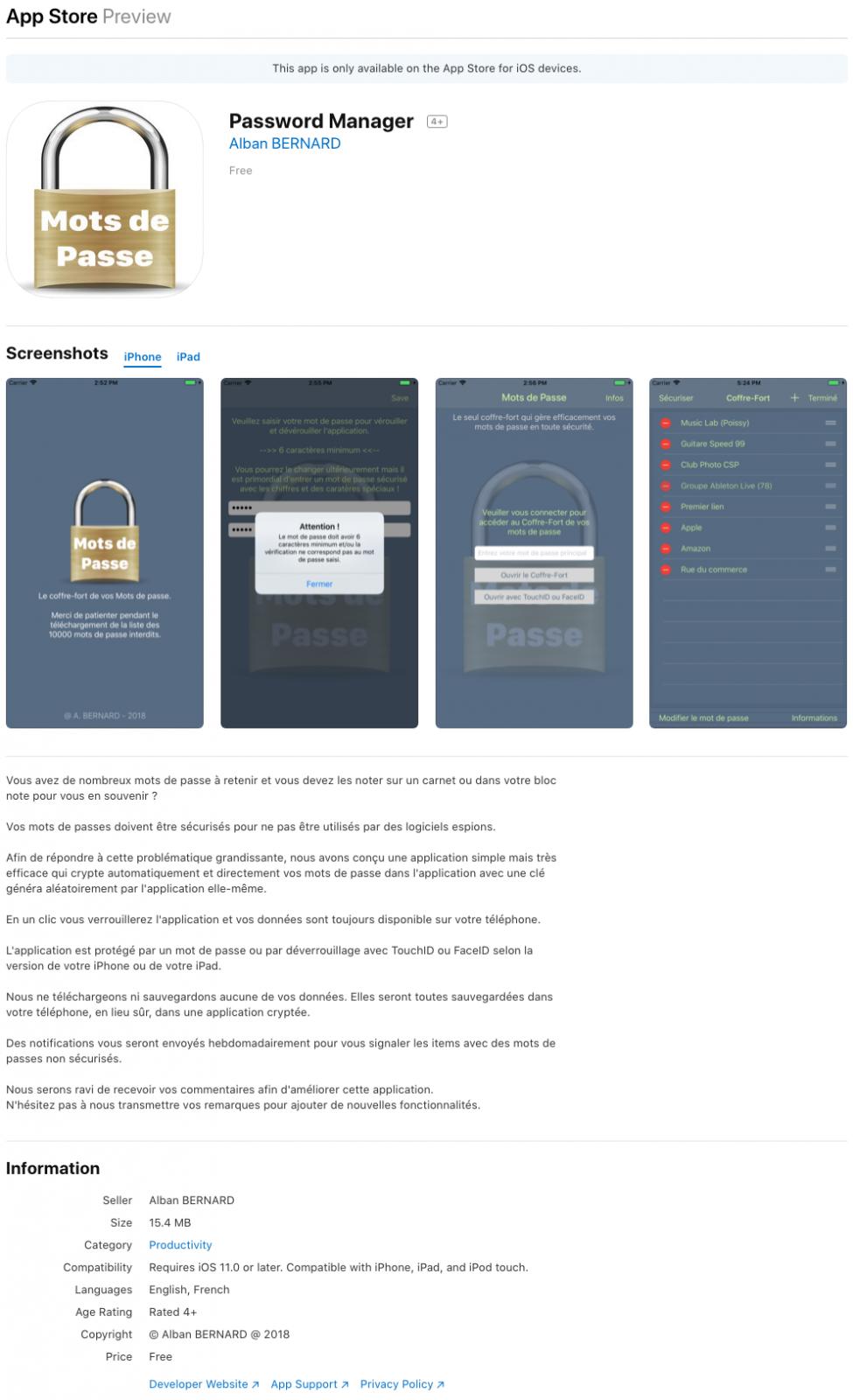 PasswordManager - AppStore