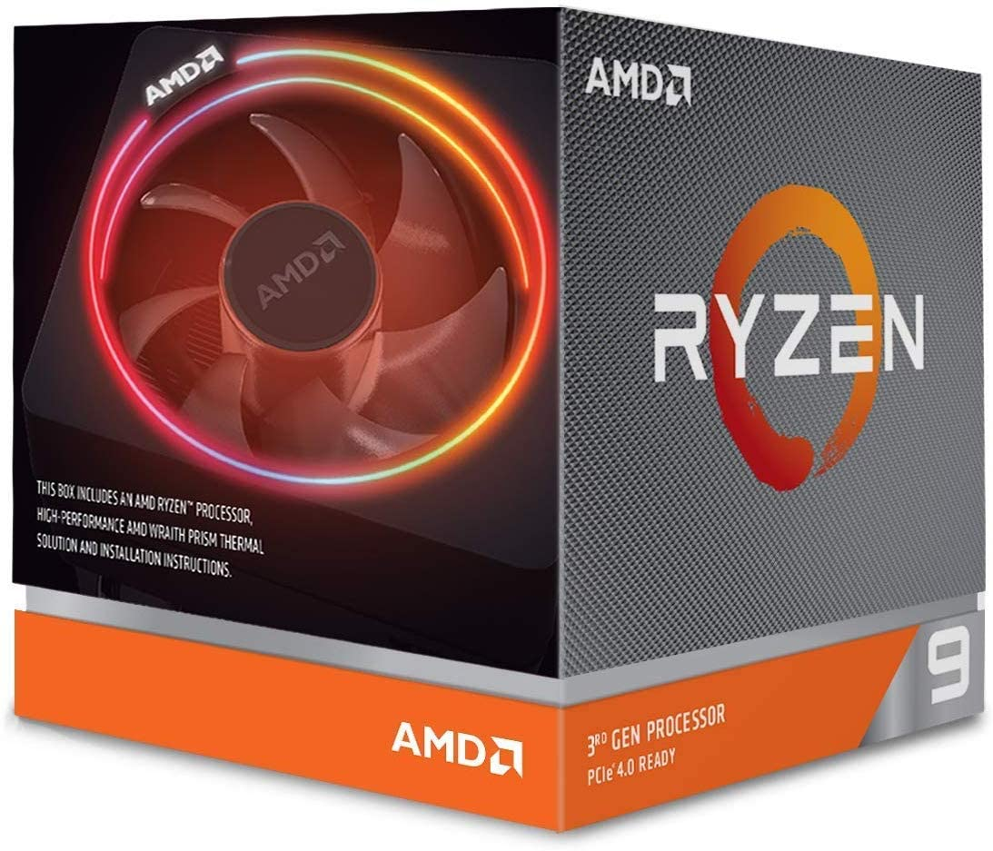 Processeur AMD RYZEN9 3900x Socket AM4 (3.8Ghz+64Mb)