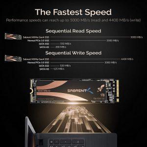 SSD Sabrent 1TB Rocket Nvme PCIe 4.0 M.2 2280